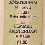 1945 Vervoerbewijs Lemmerboot
