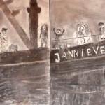Scheepsramp met de Lemmerboten door leerlingen van De Wynbrekker