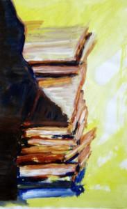 boekenstapelschilderij