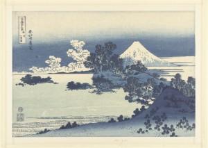 Het strand van Shichiri-ga-hama in de provincie Sagami, Katsushika Hokusai, Nishimura Yohachi, 1830 - 1834; collectie Rijksmuseum