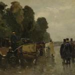 Rijtuigen met koetsiers; W de Zwart; ca. 1890-1894; Rijksmuseum