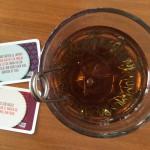 Glas en kaartjes