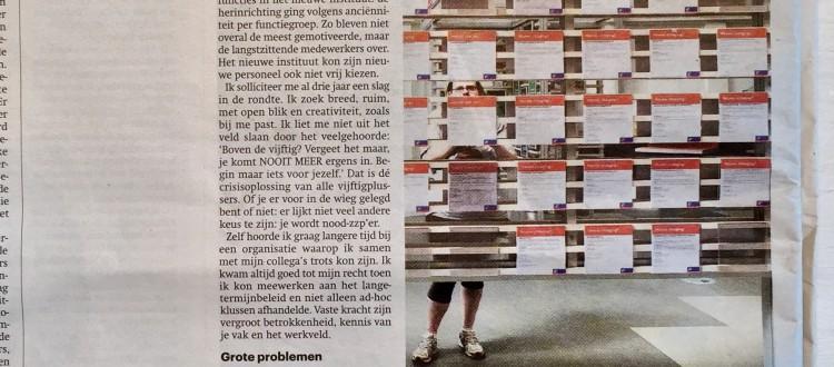 Sieneke de Rooij Trouw 19-9-2015 Geef ook ervaren werknemer kans